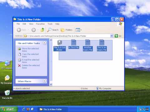 Advanced Features In Windows XP - How To Copy And Paste In Windows