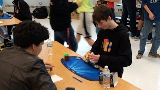 Kid Solves Rubik's Cube In Less Than 5 Seconds