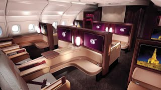Video Qatar Airways A380 First Class Doha to Paris (+Al Safwa lounge) MP3, 3GP, MP4, WEBM, AVI, FLV Maret 2019