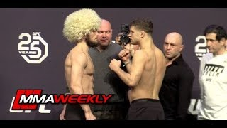 Video UFC 223 Ceremonial Weigh-Ins: Khabib Nurmagomedov vs. Al Iaquinta MP3, 3GP, MP4, WEBM, AVI, FLV Februari 2019