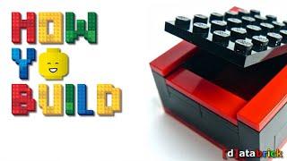 How To Build a XMAS GIFT BOX w LEGO BRICKS less than 1min StepByStep