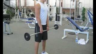 Videoanleitung zur Übung Schulterheben mit einer Langhantel. Diese Übung trainiert die Trapezmuskulatur. Weitere Übungen und alles rund um das Thema Fitness auf: http://www.wikifit.de
