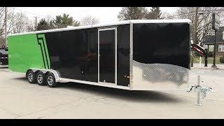 9. Neo NASX 7.5x33' Aluminum Enclosed Snowmobile Trailer 9990# GVW