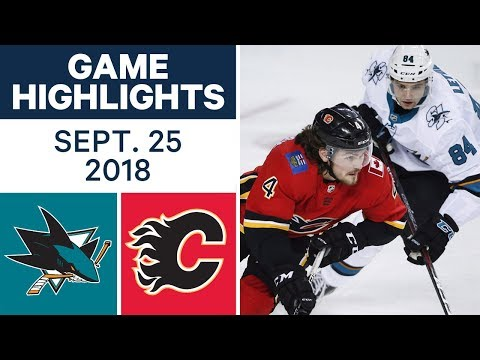 Video: NHL Pre-season Highlights | Sharks vs. Flames - Sept. 25, 2018