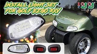 10. Golf Cart All LED Light Kit Fits EZGO RXV 2008 - 2015 Installation video