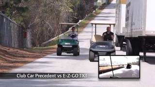 1. Club Car Precedent Golf Car vs. E-Z Go RXV & TXT and Yamaha Drive