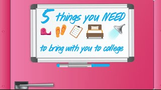 5 Things You NEED to Bring to COLLEGE with Jill Cimorelli by Seventeen Magazine
