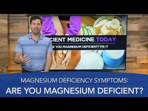 Magnesium Deficiency Symptoms: Are You Magnesium Deficient? (видео)