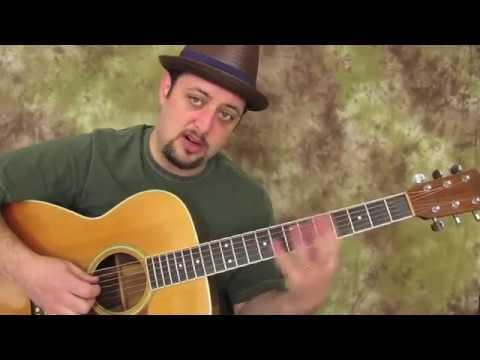 Acoustic Blues Guitar lesson  (Extended Blues Pentatonic scale)