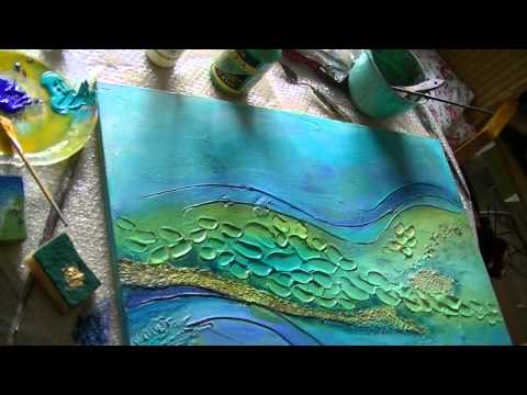 Acrylmalerei 2 Abstract acrylic Painting 2 Spachtelmasse Modelling paste
