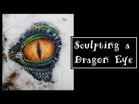 Sculpting A Dragon Eye