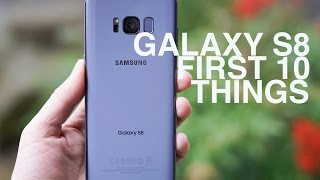 Video Galaxy S8: First 10 Things to Do! MP3, 3GP, MP4, WEBM, AVI, FLV November 2017