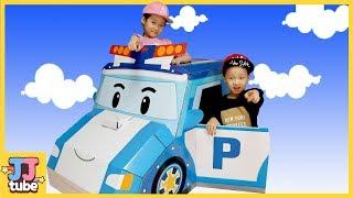 로보카 폴리 종이 하우스 만들기 장난감 놀이 Robocar POLI Paperhouse Play Toy [제이제이튜브 - JJ tube]
