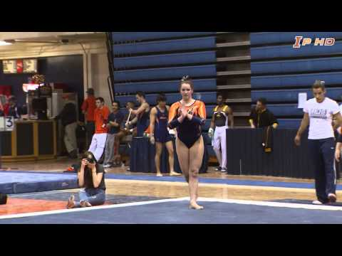 Illinois Women's Gymnastics Highlights vs. Iowa 2/16