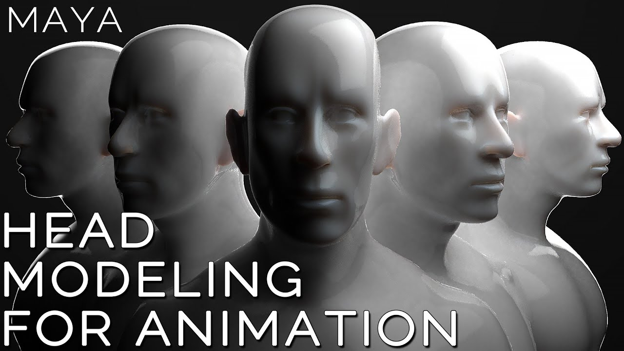 modeling human head 3d animation maya tutorial