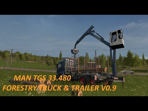 MAN TGS 33.480 FORESTRY TRUCK & TRAILER v0.9