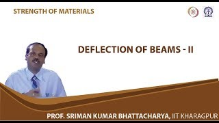 Lecture - 31 Deflection Of Beams - II