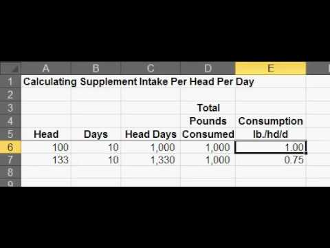 Calculating Supplement Consumption