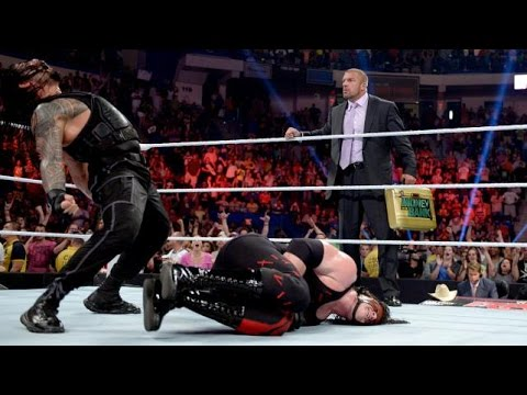 WWE John Cena vs Roman Reigns vs Kane vs Randy Orton   Roman Reigns almost died