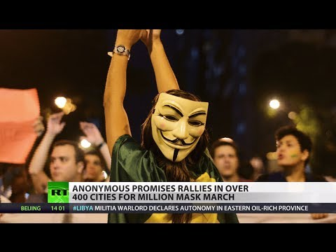 protest - Hundreds of cities across the world are expected to stand together as one today in major rallies planned by the global protest movement Anonymous. The Millio...