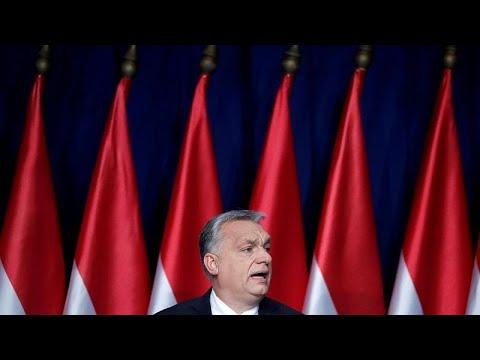 Le premier ministre hongrois Viktor Orbán lance la campagne des européennes