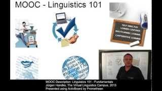Free Online Course: Linguistics 101 - Fundamentals