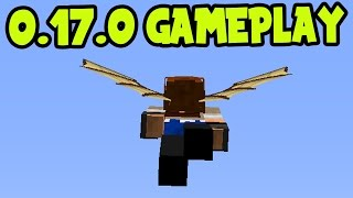 MCPE 0.17.0 UPDATE GAMEPLAY! ELYTRA WING FLYING CHALLENGES! 0.17.0 WINGS - Minecraft Pocket Edition
