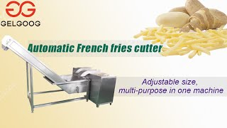 French fries cutting machine High effective vegetable cutter youtube video