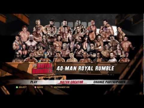 WWE' 12 40 Man Royal Rumble Match Part 1 [XBOX 360 PS3 HD]