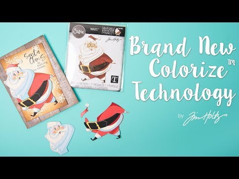 How to assemble the Jolly St Nick die by Tim Holtz - Featuring new Colorize Technology!