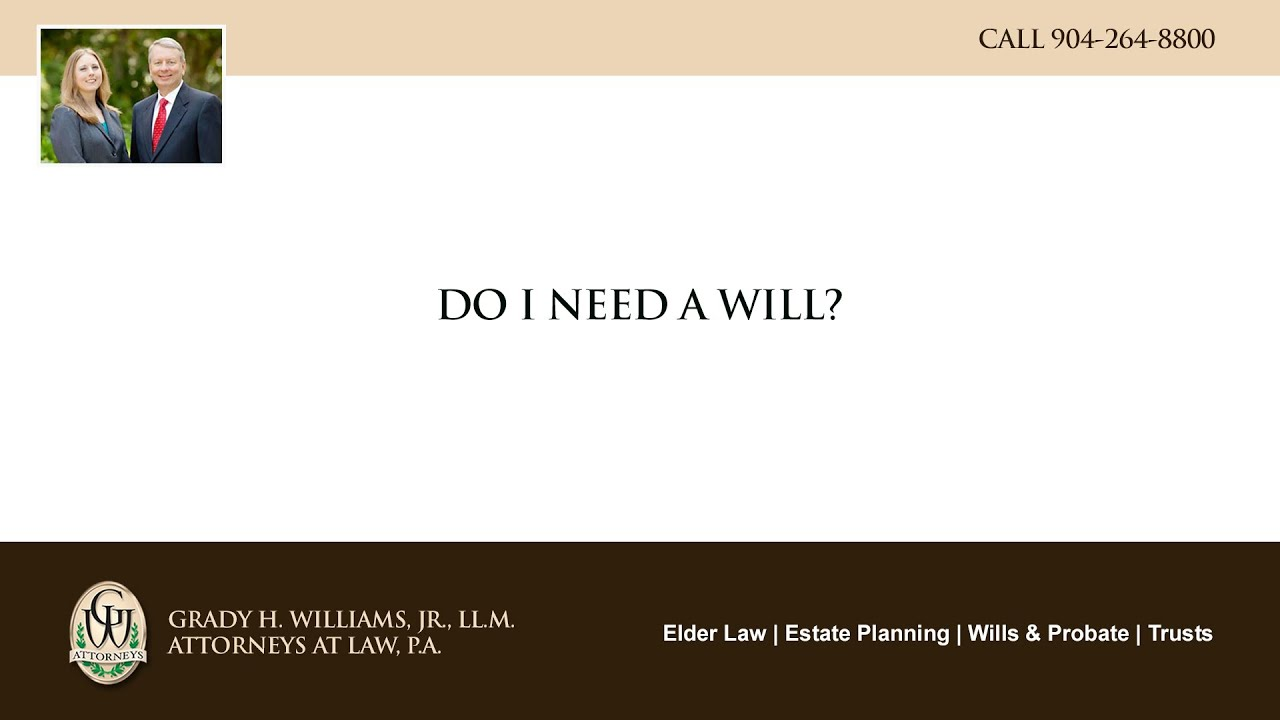 Video - Do I need a will?