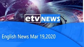 English News Mar 19,2020 |etv