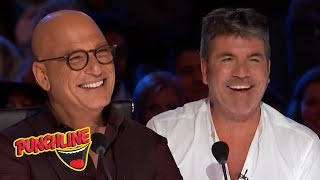 Video STAND UP COMEDIANS make Simon Cowell & Howie Mandel On America's Got Talent Laugh! MP3, 3GP, MP4, WEBM, AVI, FLV Agustus 2019