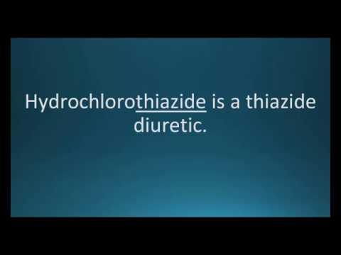 How to pronounce hydrochlorothiazide (Microzide) (Memorizing Pharmacology Flashcard)