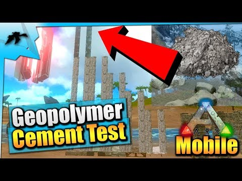 Ark Mobile| How Craft Geopolymer Cement/Foundations And Test| iOS v1.1.06/Android Update Patch