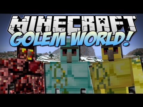 Minecraft | GOLEM WORLD! (Mo' Golems!) | Mod Showcase [1.6.2]