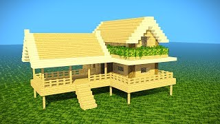 Minecraft: Starter House Tutorial - How to Build a House in Minecraft [ Easy ]