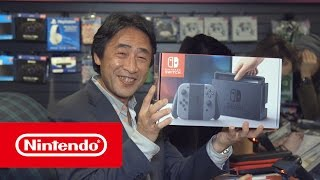 Mr. Shibata was on hand to sell the first Nintendo Switch at GAME Wardour Street's midnight launch last night! Are you enjoying launch day?Official site: http://www.nintendo.co.uk/Nintendo-Switch/Nintendo-Switch-1148779.html?utm_source=youtube&utm_campaign=nintendoswitch&utm_medium=socialNintendo Switch on Facebook: https://www.facebook.com/NintendoSwitchUKNintendo UK on Twitter: https://www.twitter.com/NintendoUKNintendo UK on Instagram: https://www.instagram.com/NintendoUKNintendo UK on Twitch: http://www.twitch.tv/nintendouk