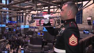 11/11/11  On the 93rd anniversary of Veterans Day, the NYSE, along with the United States Marine Corps, observes two minutes of silence (9:20-9:22am) in honor of America's veterans and the brave men and women of the Armed Forces.