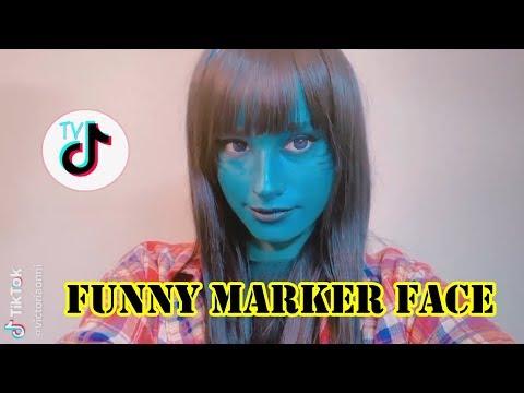 Funny face - Funny Marker Face TikTok Videos Compilation 2019