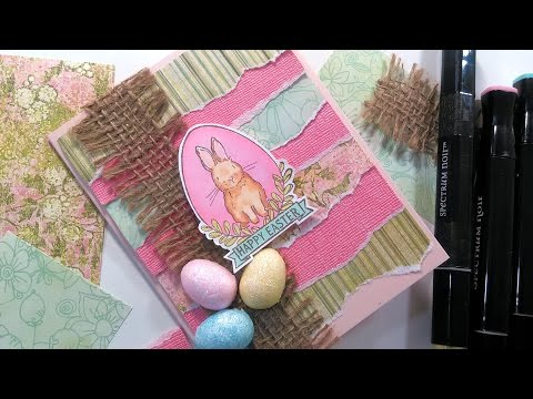 Happy Easter Bunny Card // Alcohol Marker Coloring for Beginners (видео)