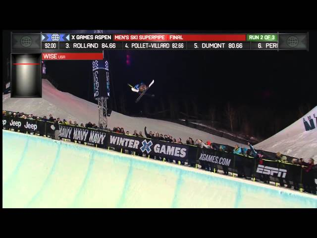 DAVID WISE'S GOLD MEDAL SKI SUPERPIPE RUN