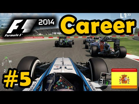 spanish - Part 5 of my F1 2014 Career Mode!!! Tough day at work xD F1 2014 Gameplay - Career Mode Part 5: Spanish Grand Prix Career Race at Catalunya in the Williams! ○▻Like, Comment & Subscribe!...