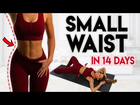 SMALLER WAIST in 14 Days (& round hips) | 15 min Home Workout