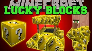 Minecraft: LUCKY BLOCKS (LUCKY VILLAGERS, WISHING WELLS, LUCKY POTIONS,&MORE!) Mod Showcase