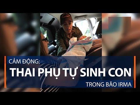 Cảm động: Thai phụ tự sinh con trong bão Irma | VTC1 - Thời lượng: 74 giây.