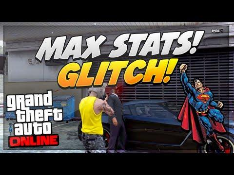 GTA 5 Glitches: MAX STATS GLITCH Online 1.15 (Max Shooting & Strength FAST) (видео)