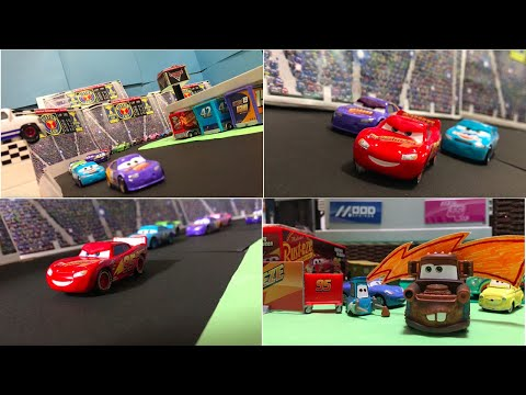 Stop Motion : Movie Cars 3 : Beginning Race Reenactment : Disney Pixar