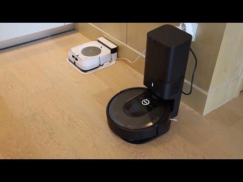 Kendi kendine temizlik yapan robot süpürge ve paspas: iRobot Roomba i7+ & Braava Jet M6