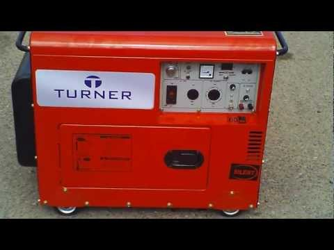 Turner Biodiesel. Silent Generator, 7000 watt max, 6000 watt rated. Sorry about the wind.